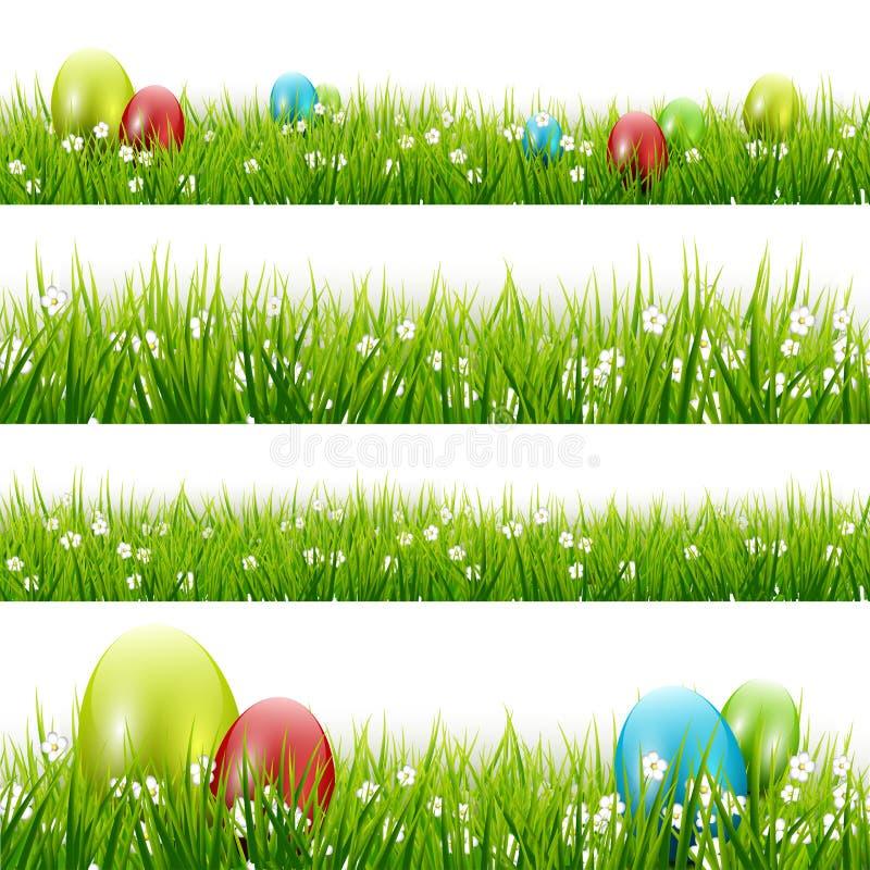 Trawa z jajkami - wektoru set ilustracja wektor