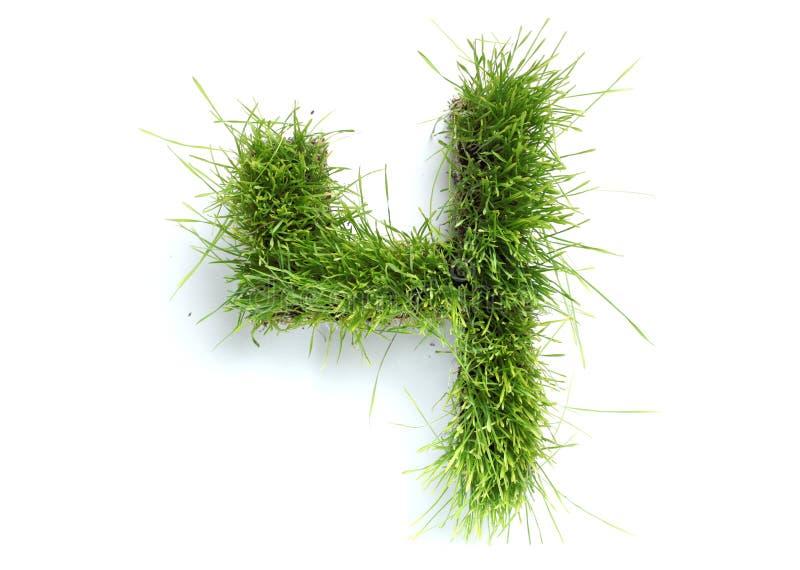 trawa zrobił liczbom zdjęcie stock