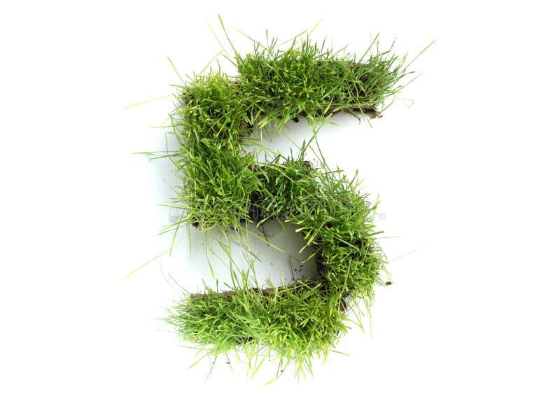 trawa zrobił liczbom obraz stock