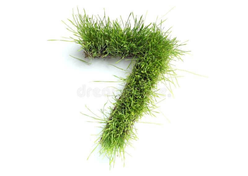 trawa zrobił liczbom zdjęcia stock