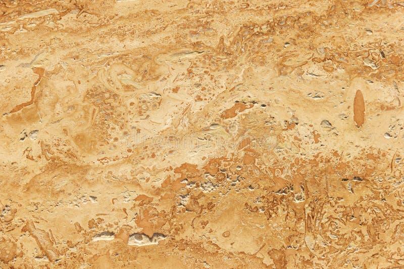 Trawertyn zamknięty w górę, beż kamienna tekstura zdjęcie stock