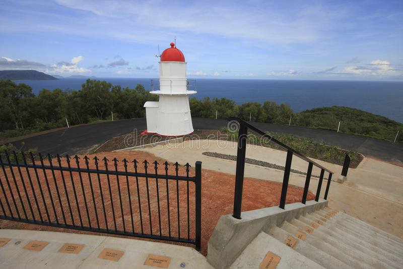 Trawiasta wzgórze latarnia morska, Cooktown obrazy royalty free