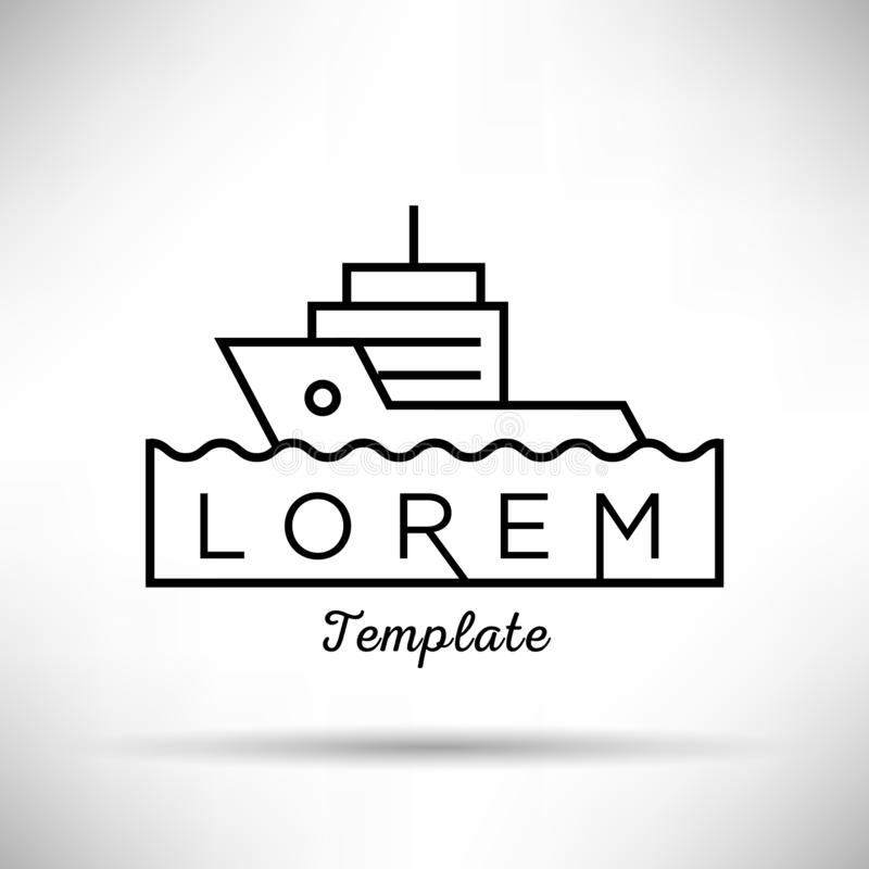 Trawler Minimal Sign Vector Design royalty free illustration