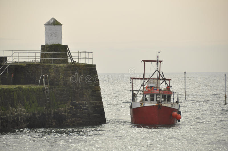 Trawler in Pittenweem Fife Scotland UK royalty free stock images