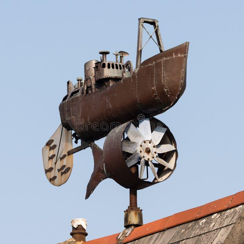 Trawlera weathervane Andrew Hazell zdjęcie royalty free