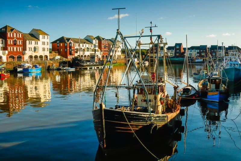 Trawlery w schronieniu zdjęcie royalty free