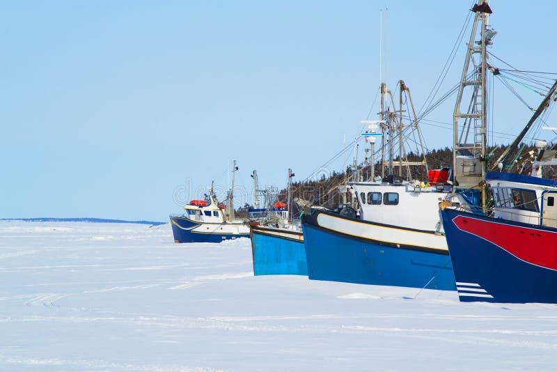 Trawlery w zatoce fotografia stock