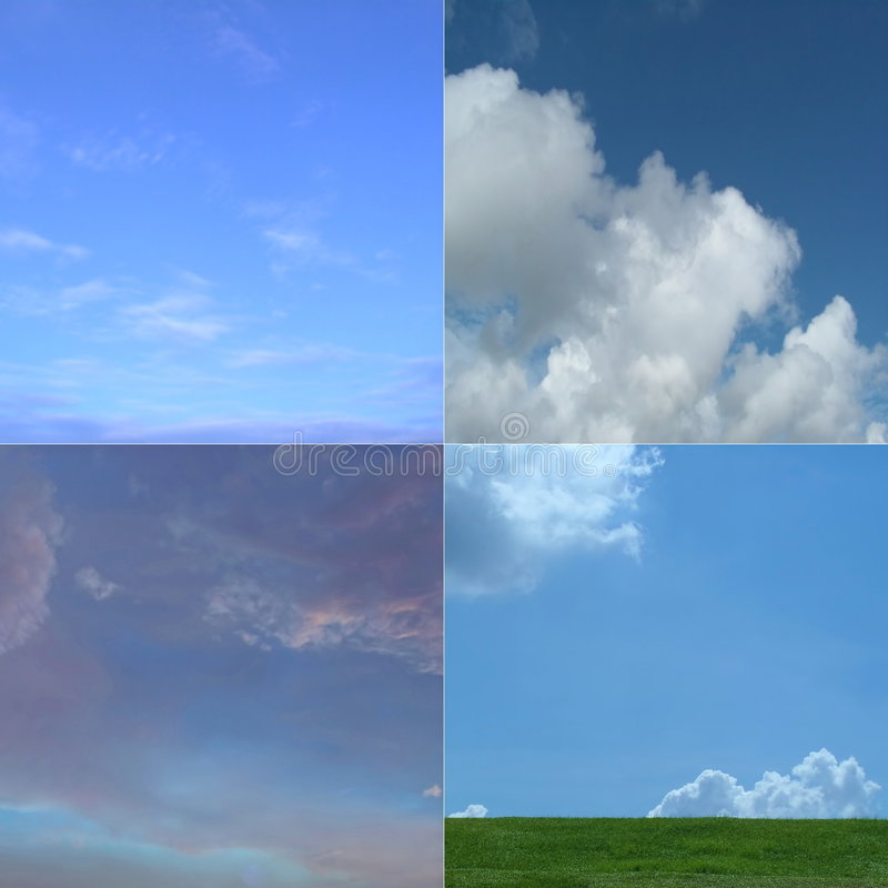 trawy 4 nieba obraz royalty free