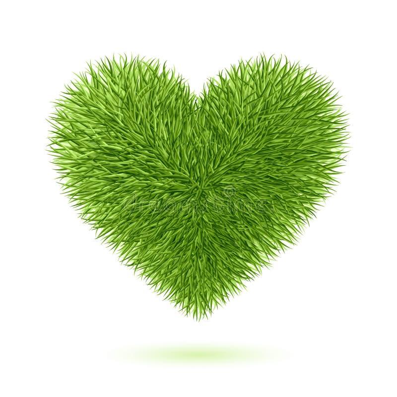 trawy serca symbol ilustracja wektor