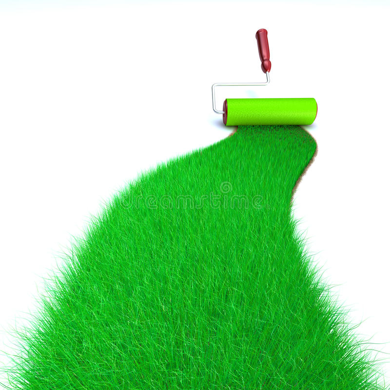 trawy zieleni obraz royalty ilustracja