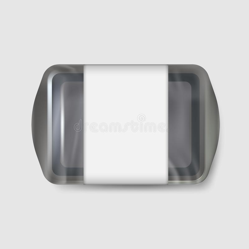 Tray container isolated on white background. Vector illustration. vector illustration