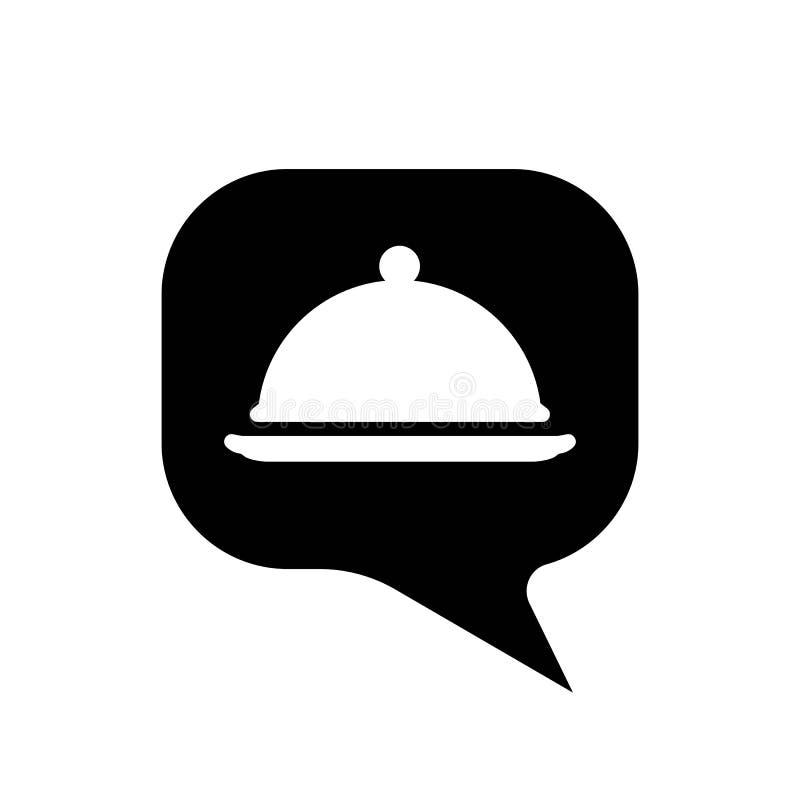 Tray-dish dialogue icon. isolated vector illustration