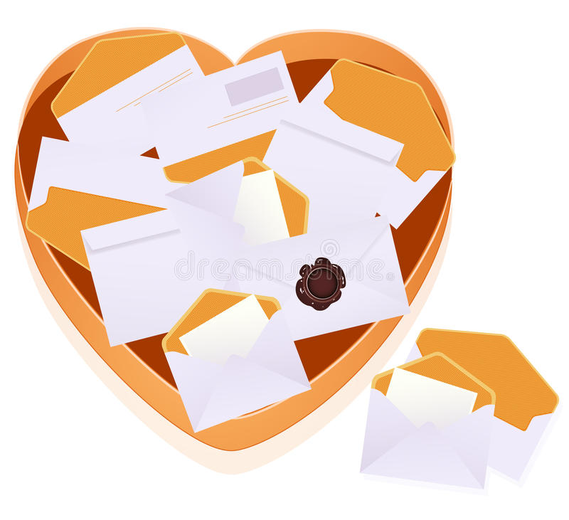 Download Tray with envelopes stock vector. Image of image, mail - 13305576