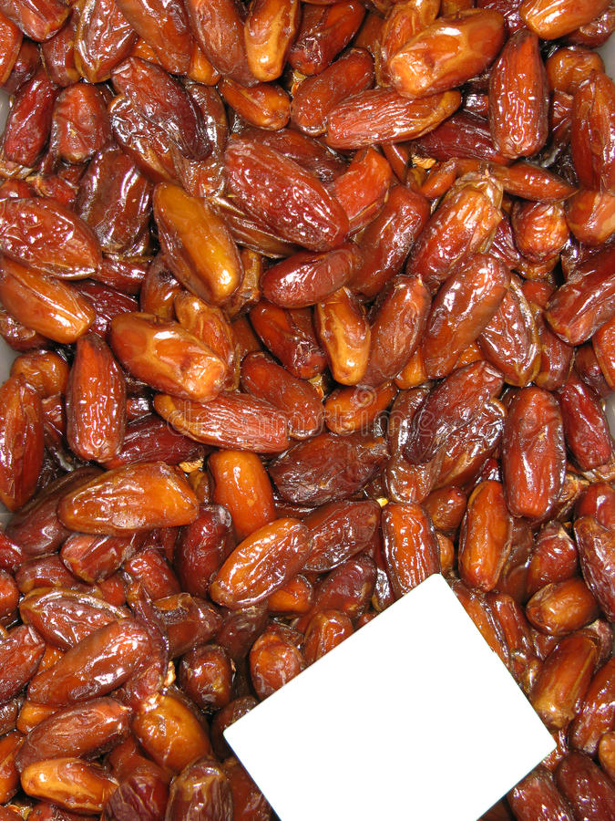 A Tray Filled With Dry Dates (tamaras) Stock Images