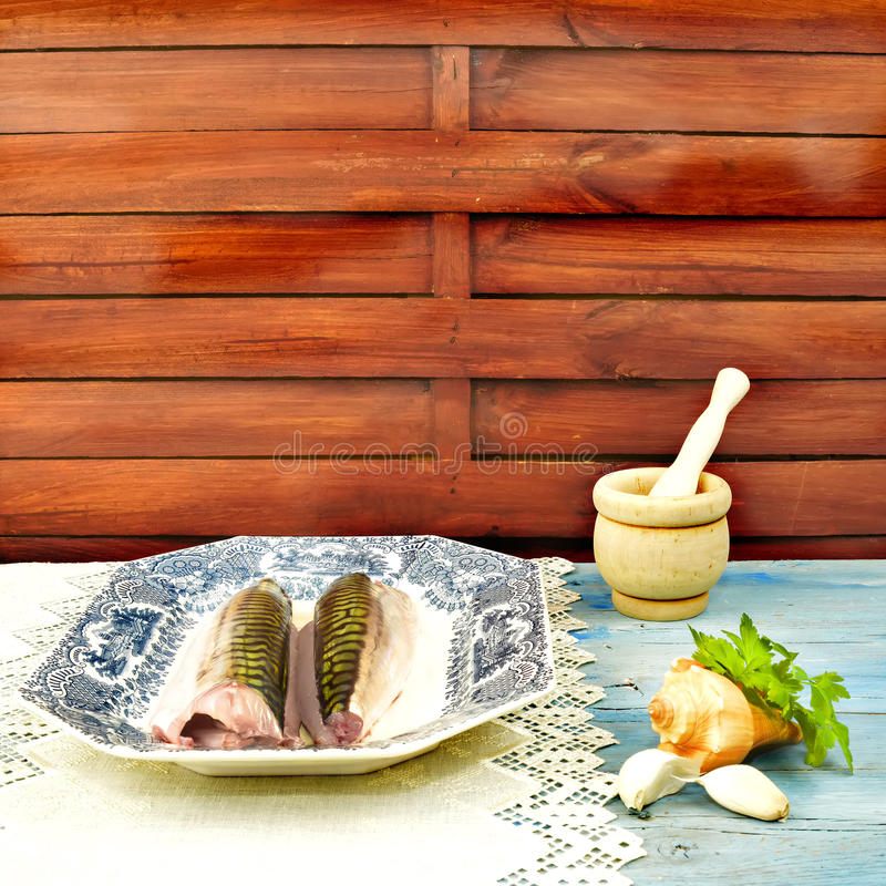 Download Tray Of Fish And Cooking Ingredients Stock Image - Image of meal, nutrition: 39513813
