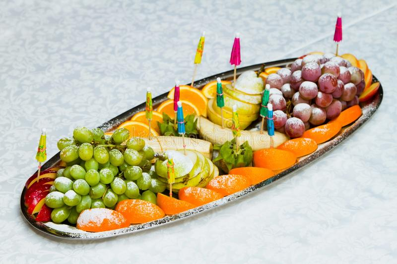 A tray of fruit