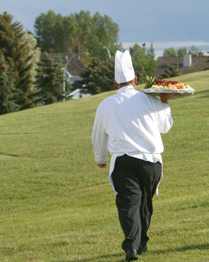 tray jedzenia szefa kuchni zdjęcie royalty free