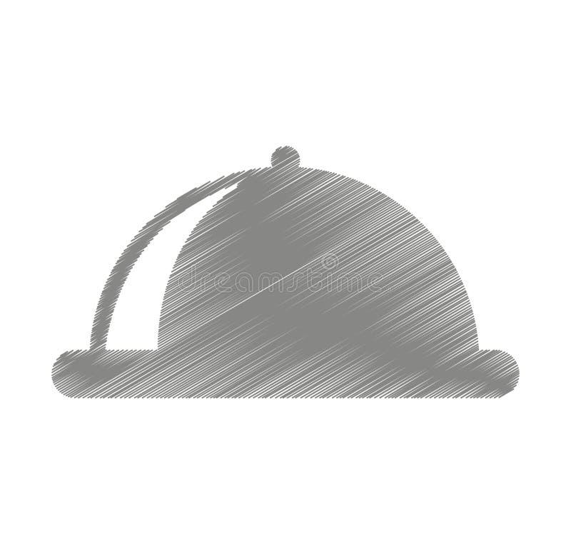 Tray server isolated icon. Illustration design royalty free illustration