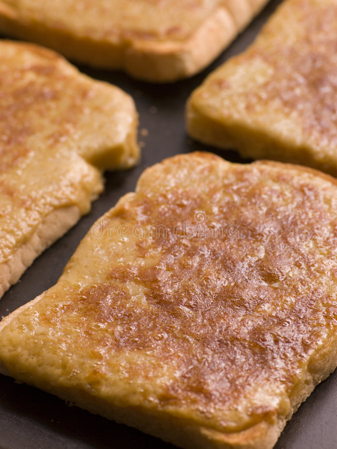 Tray of Welsh Rarebit royalty free stock image