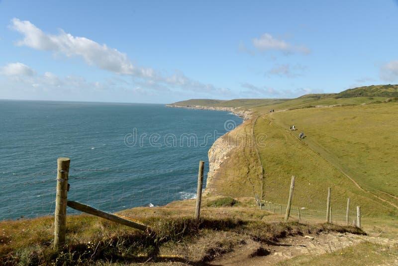 Trayectoria costera de Dorset Repisa del baile fotos de archivo libres de regalías