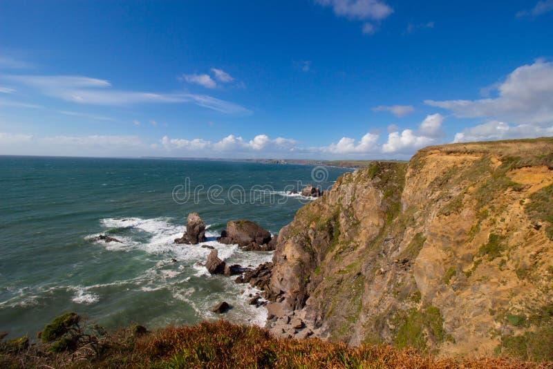 Trayectoria costera del sudoeste la gran repisa, Devon fotos de archivo libres de regalías