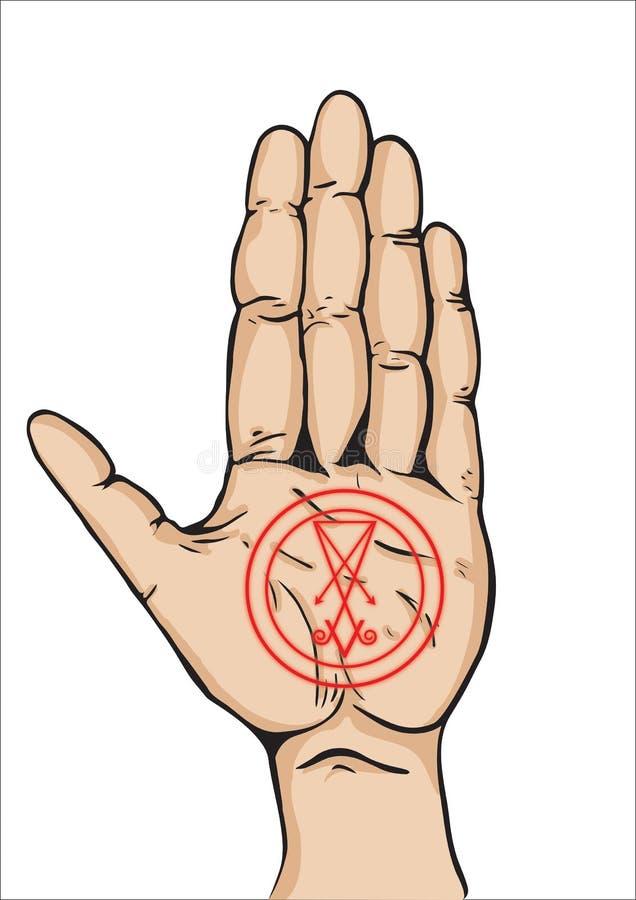 Trayectoria de la mano izquierda ilustración del vector