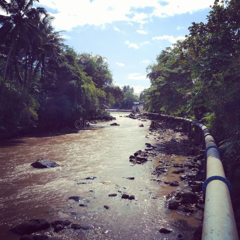 Trayectoria del agua por naturaleza fotos de archivo