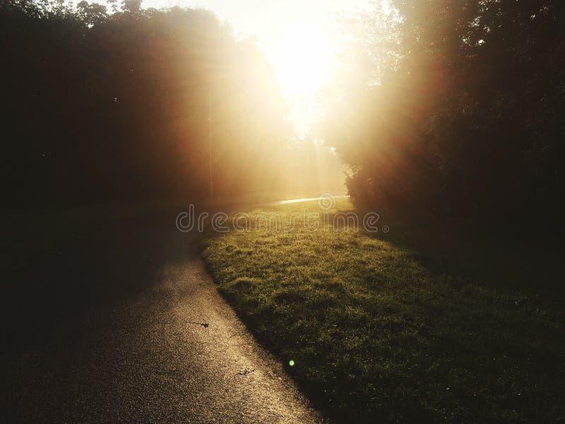 Trayectoria soleada foto de archivo