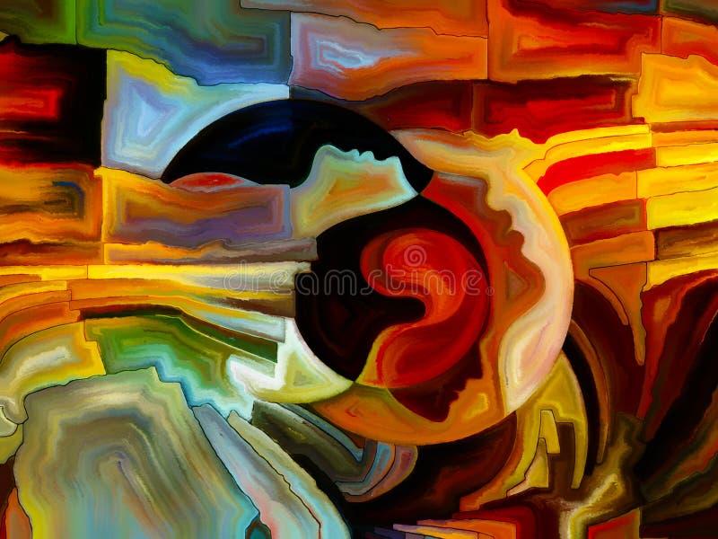 Trayectorias de la pintura interna ilustración del vector