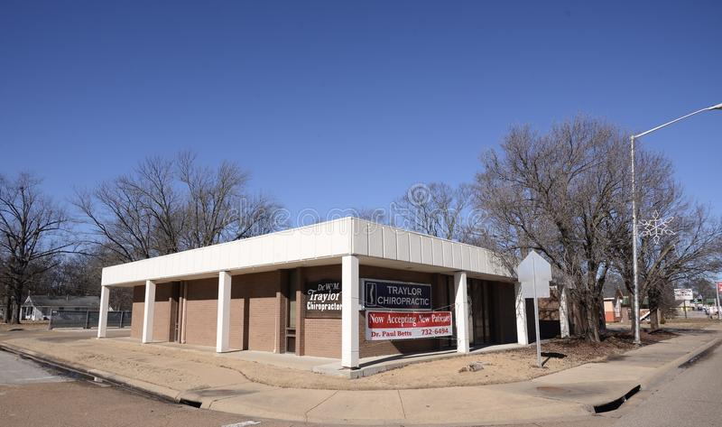 Traylor Chiropractor Office, Memphis Arkansas ad ovest fotografia stock libera da diritti