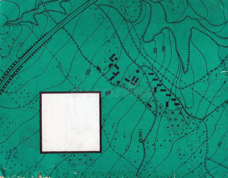 Trazado del contorno del vintage Ejemplos naturales de la impresión de mapas fotos de archivo