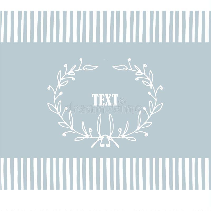 Trazado sin fisuras con cartón dibujado a mano floral para texto Ilustración vectorial en tonos azules ilustración del vector