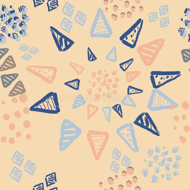 Trazado transparente en el diseño vectorial con colores de tendencia Ornamento abstracto con elementos dibujados a mano stock de ilustración