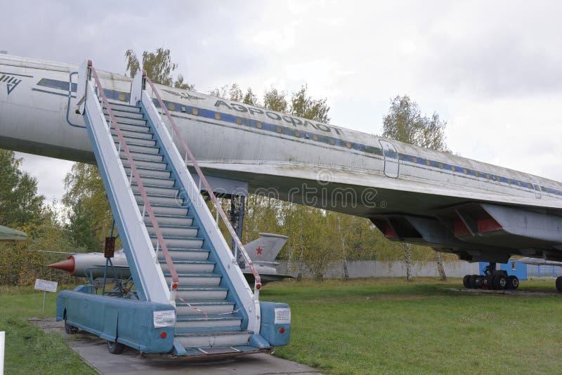 Trazador de líneas de pasajero de Tu-144-Supersonic (1968) máximo velocidad, km/h-2500 imagen de archivo libre de regalías