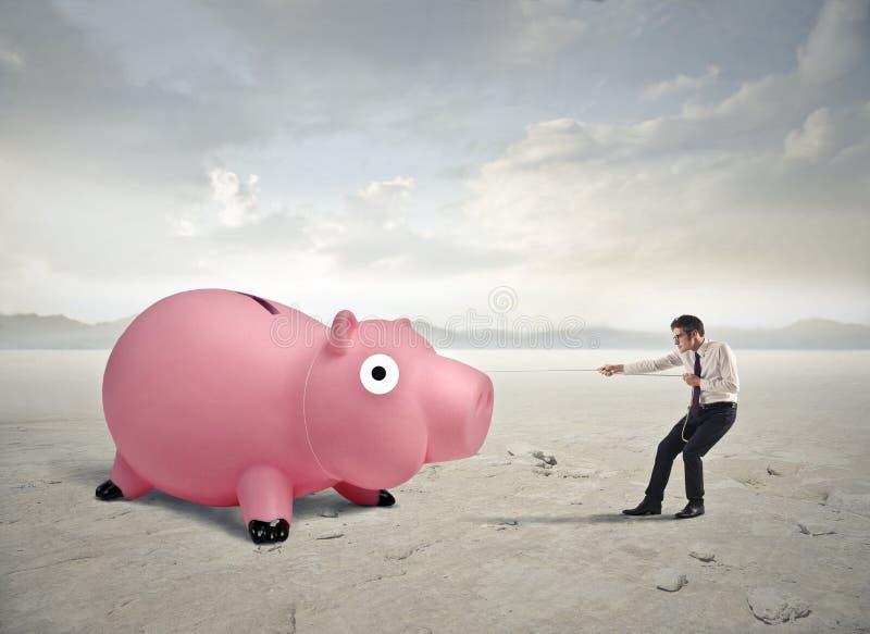 Trazione dei soldi fotografia stock libera da diritti