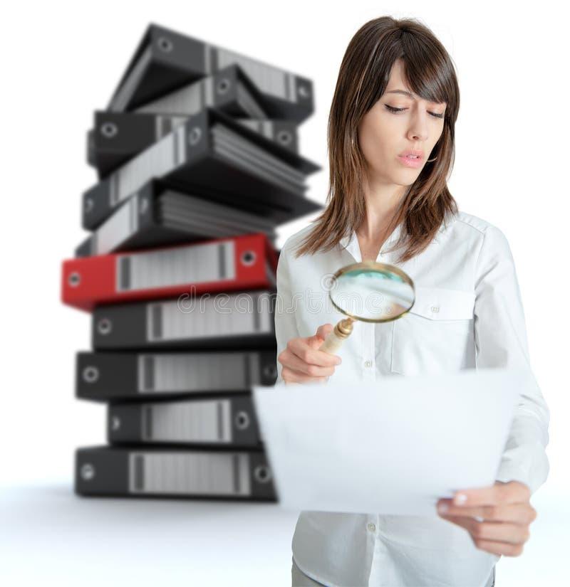 Trazo del documento imágenes de archivo libres de regalías