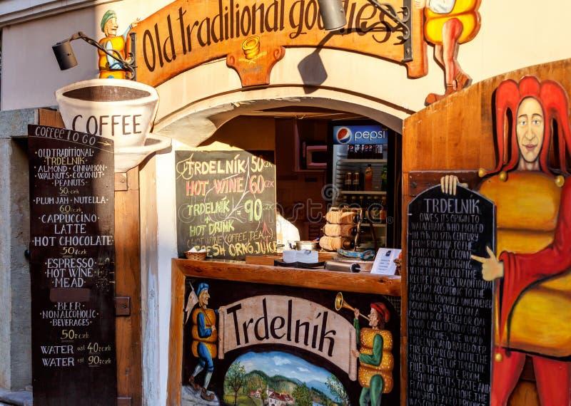 Trdelnik, una pasticceria ceca dolce tradizionale fotografie stock libere da diritti