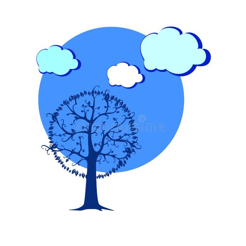 Tre силуэта предпосылки иллюстрации леса вектора ландшафта иллюстрация штока