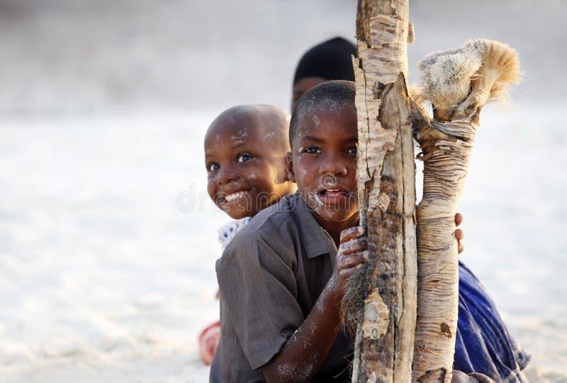 Tre afrikanska barn royaltyfri bild