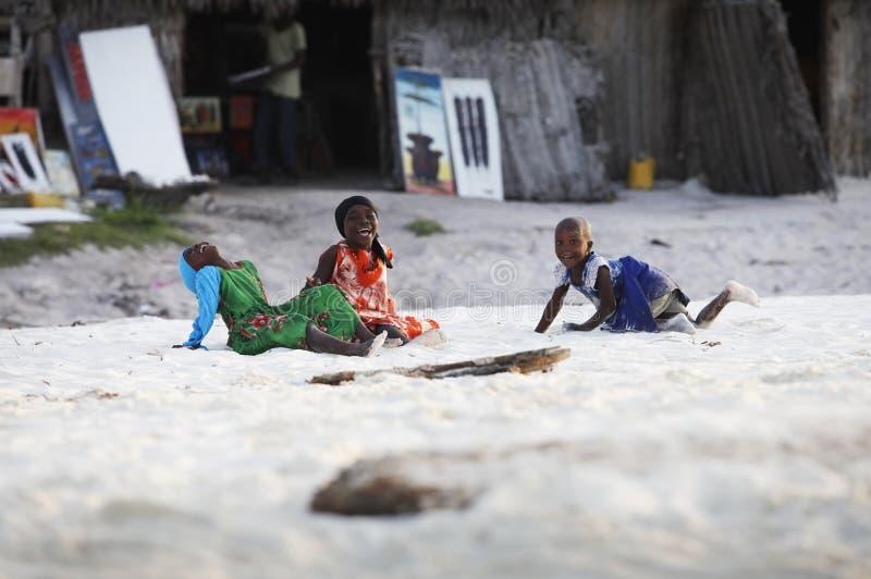 Tre afrikanska flickor royaltyfria foton
