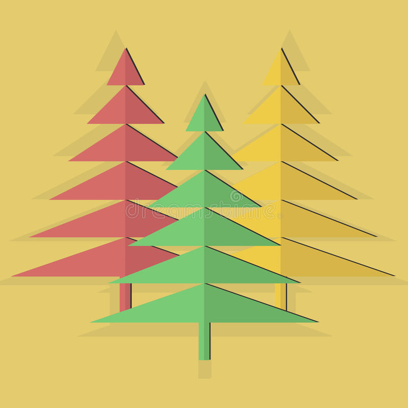 Tre alberi fotografia stock