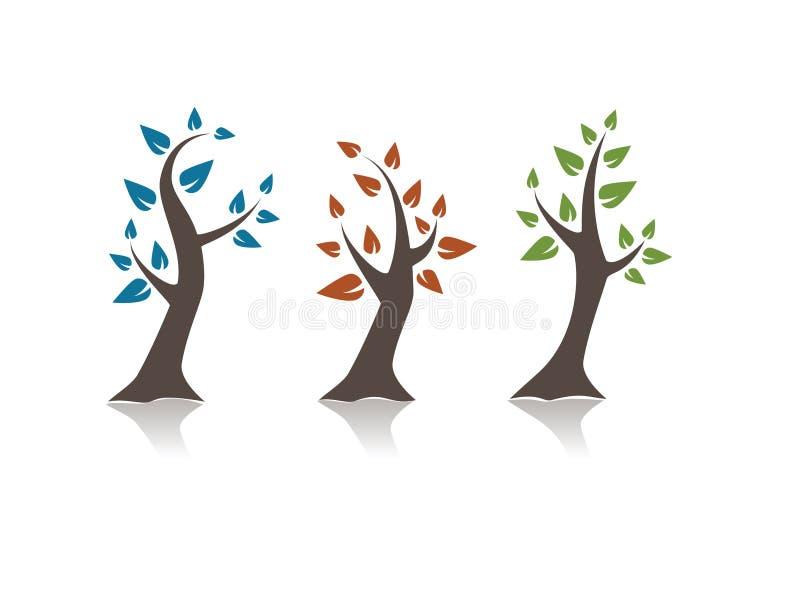tre alberi royalty illustrazione gratis
