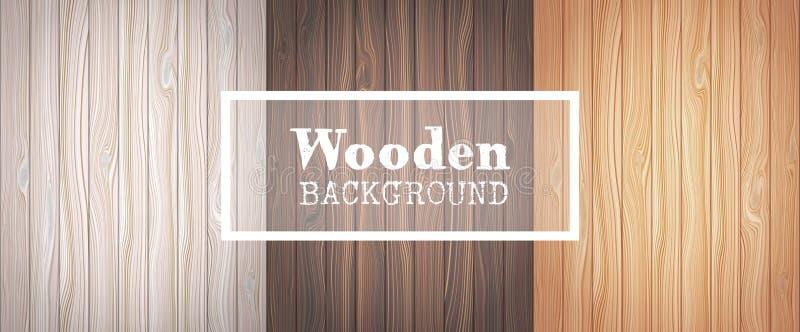 Tre ambiti di provenienza di legno illustrazione di stock