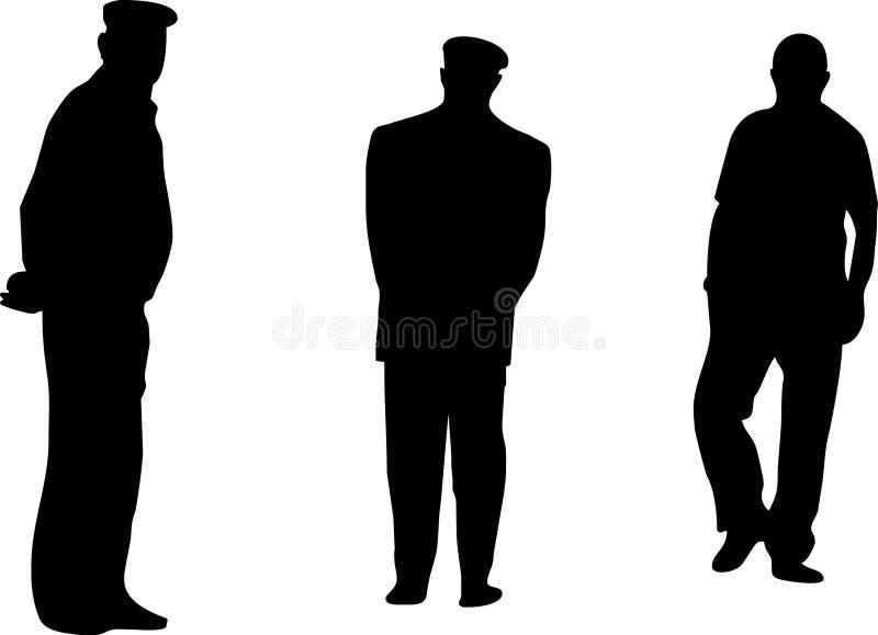 Tre anziani illustrazione di stock