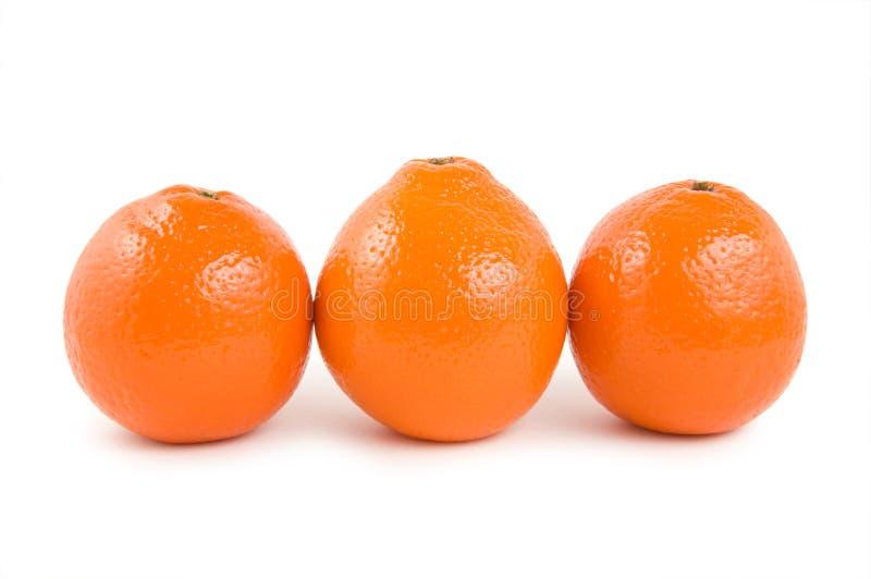 Tre aranci immagini stock
