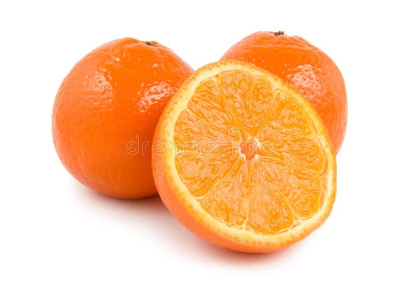 Tre aranci perfettamente freschi fotografie stock libere da diritti