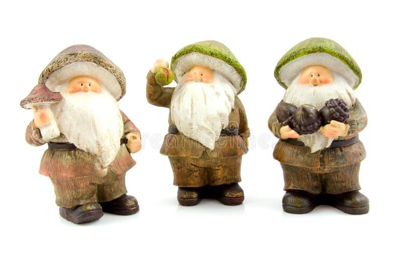 Tre bambole di pietra di autunno fotografia stock libera da diritti