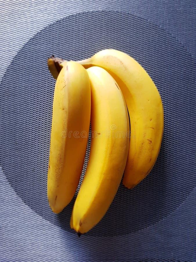 Tre bananer royaltyfria bilder