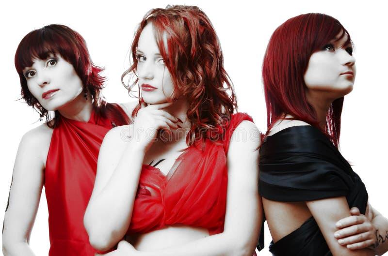 Tre belle ragazze fotografia stock libera da diritti