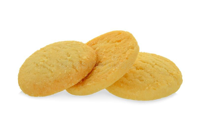 tre biscotti isolati su bianco fotografia stock libera da diritti